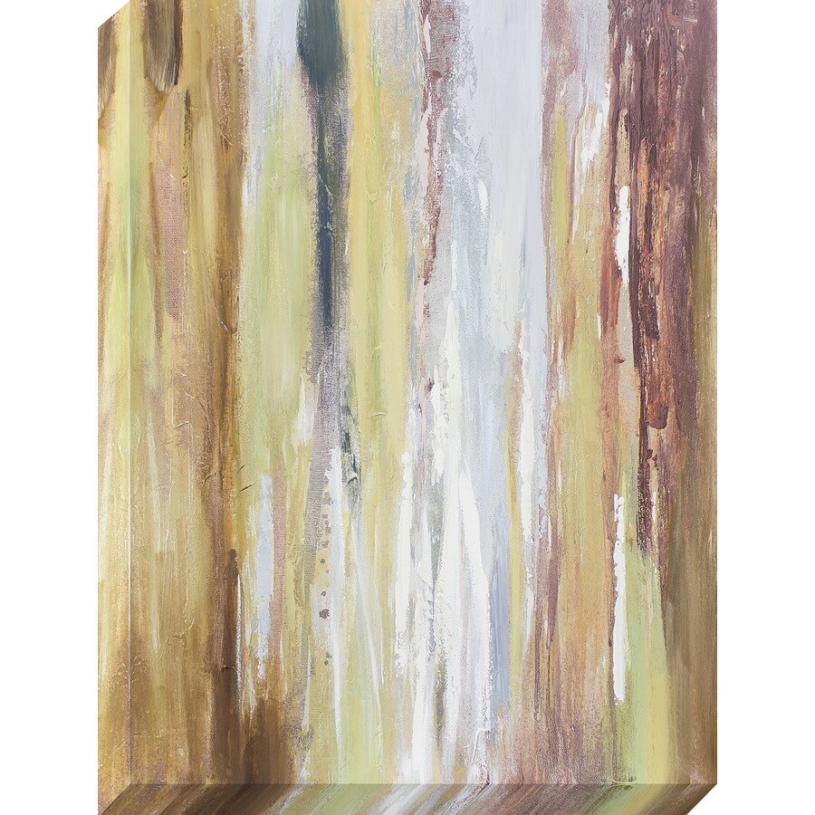 30-in W x 40-in H Frameless Canvas Abstract Print Wall Art