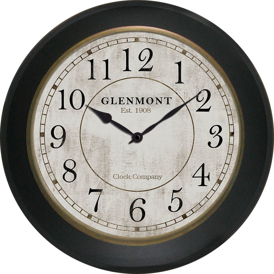Shop Analog Round Indoor Wall Clock At Lowes Com