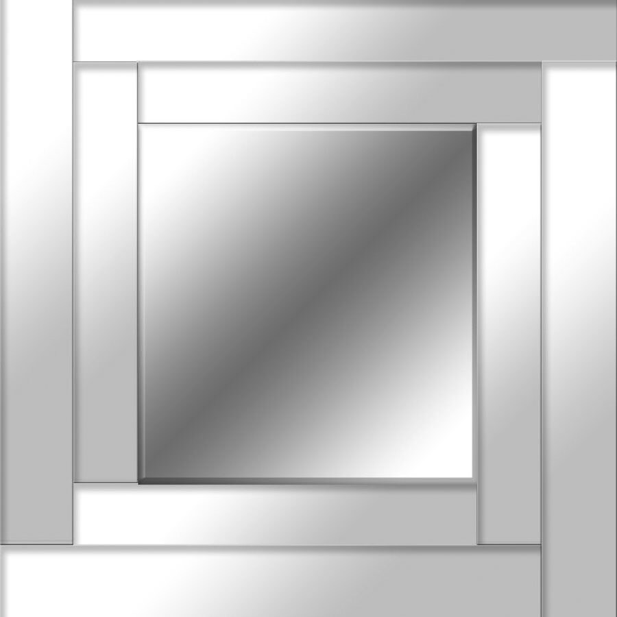24-in x 24-in Mirror Polished Square Frameless Contemporary Wall Mirror
