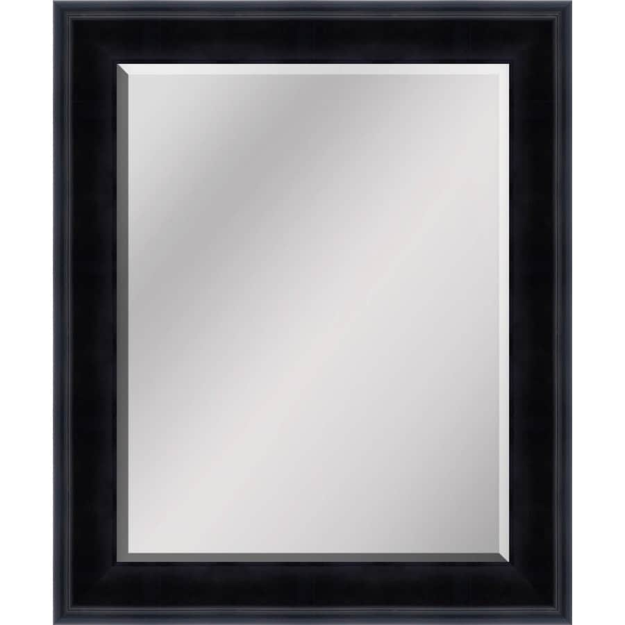 Shop Antique Black Beveled Wall Mirror At