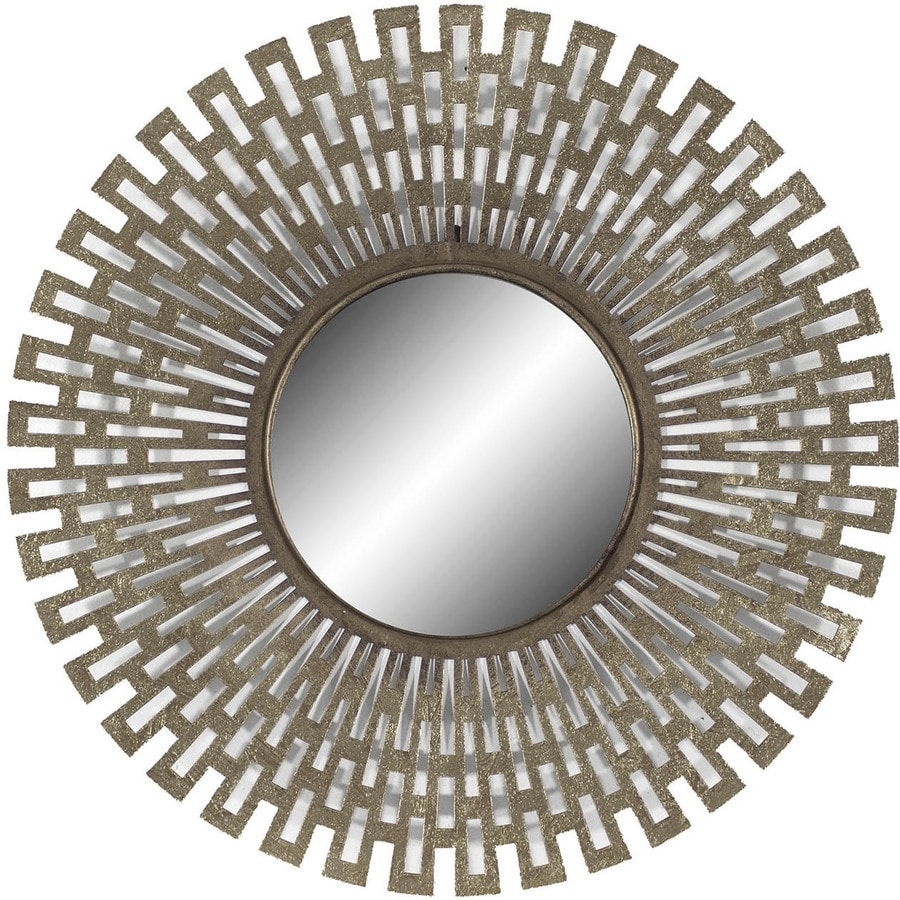 Champagne Polished Round Wall Mirror