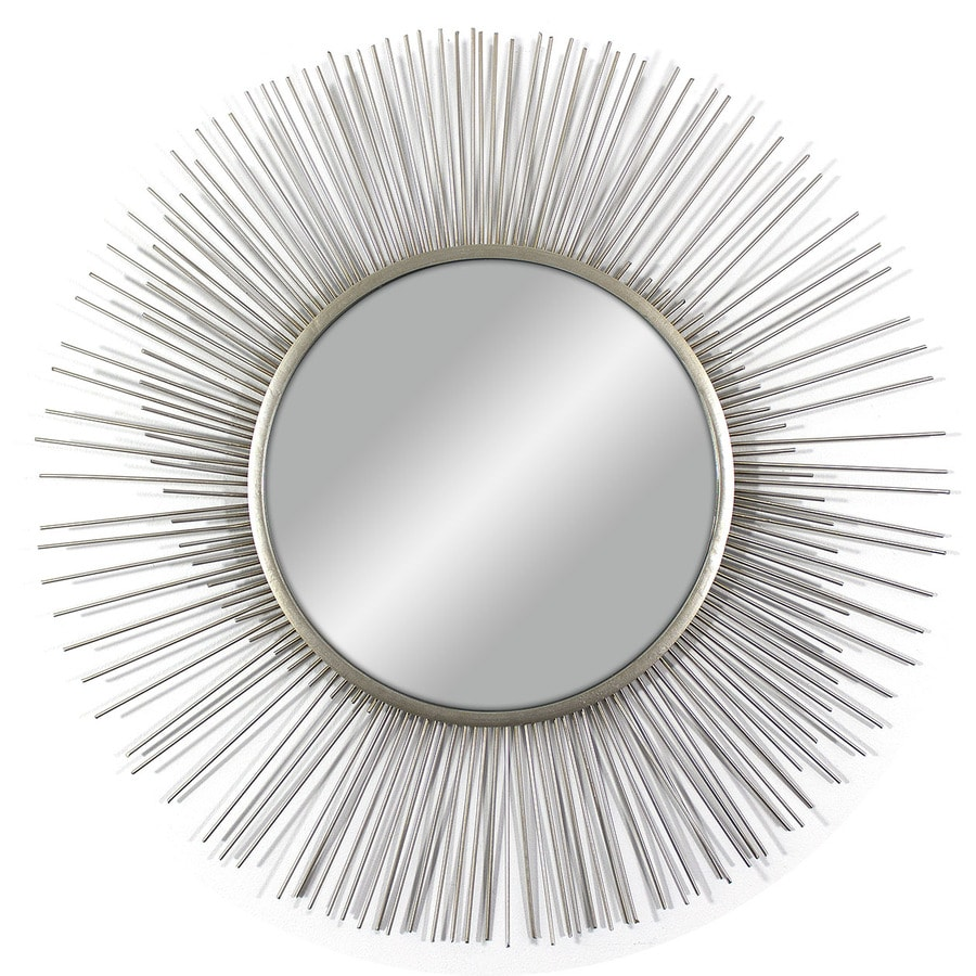 Silver Polished Round Wall Mirror
