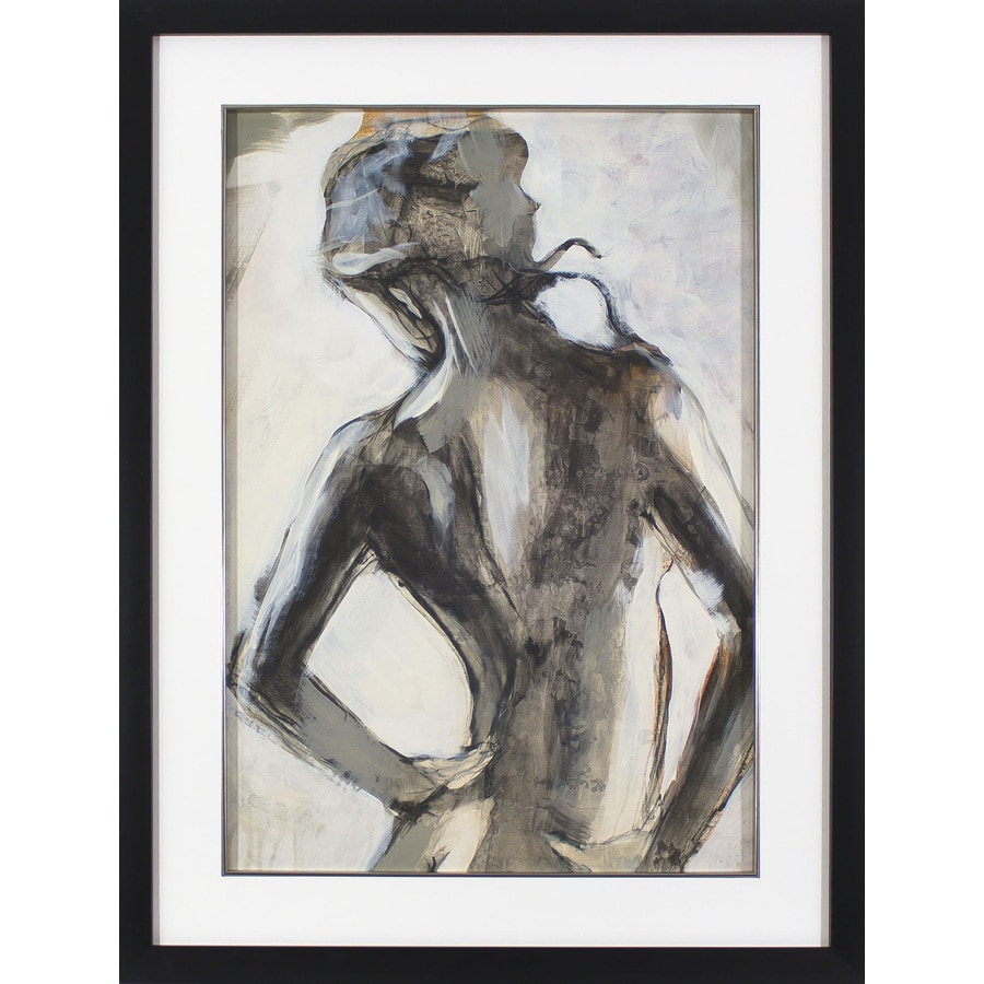 32-in W x 42-in H Framed Plastic Figurative Print Wall Art