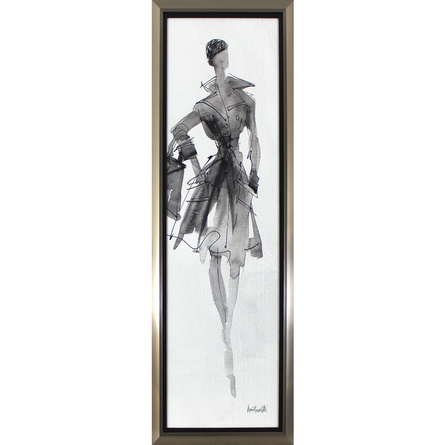 14.75-in W x 38.75-in H Framed Figurative Print Wall Art