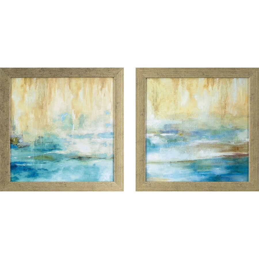 2-Piece 13.75-in W x 13.75-in H Framed Abstract Print Wall Art