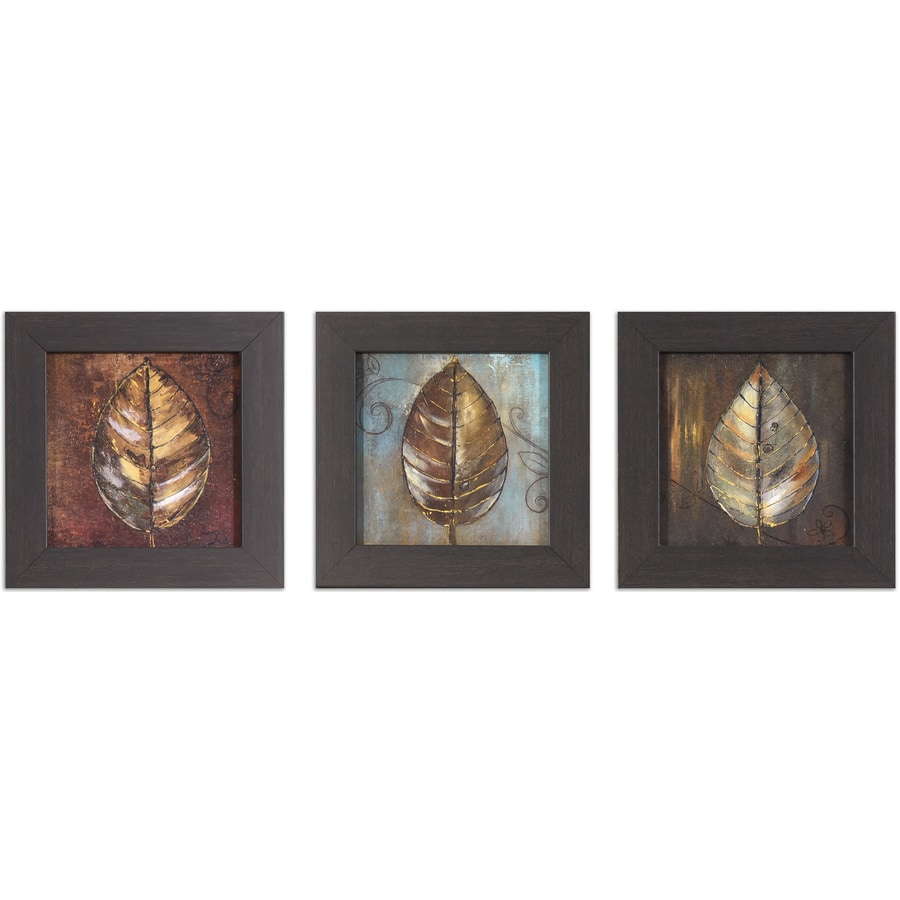 3-Piece 8-in W x 8-in H Framed Garden Print Wall Art