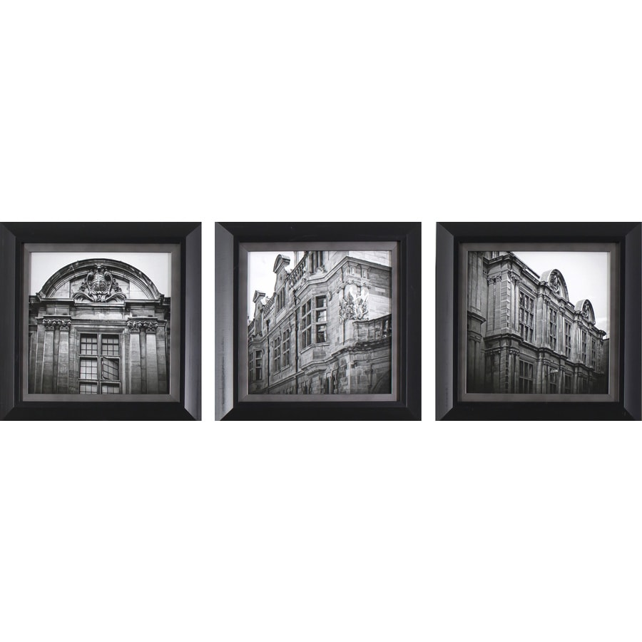 3-Piece 10.75-in W x 10.75-in H Framed Cityscape Print Wall Art