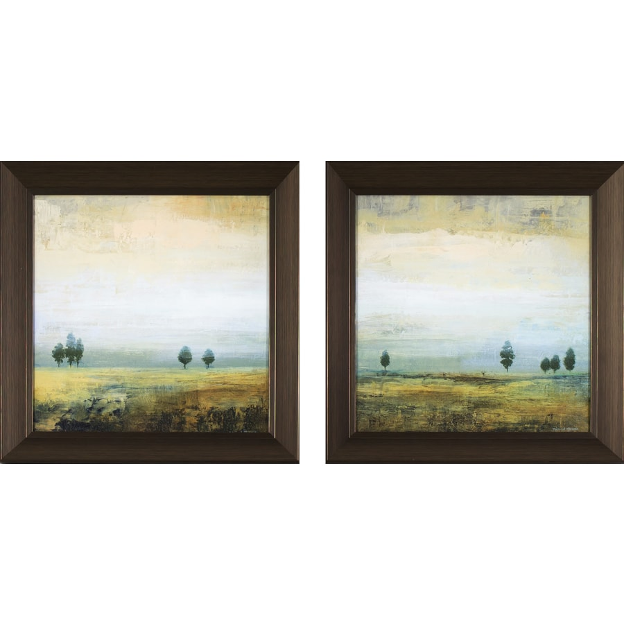 2-Piece 14.25-in W x 14.25-in H Framed Landscapes Print Wall Art
