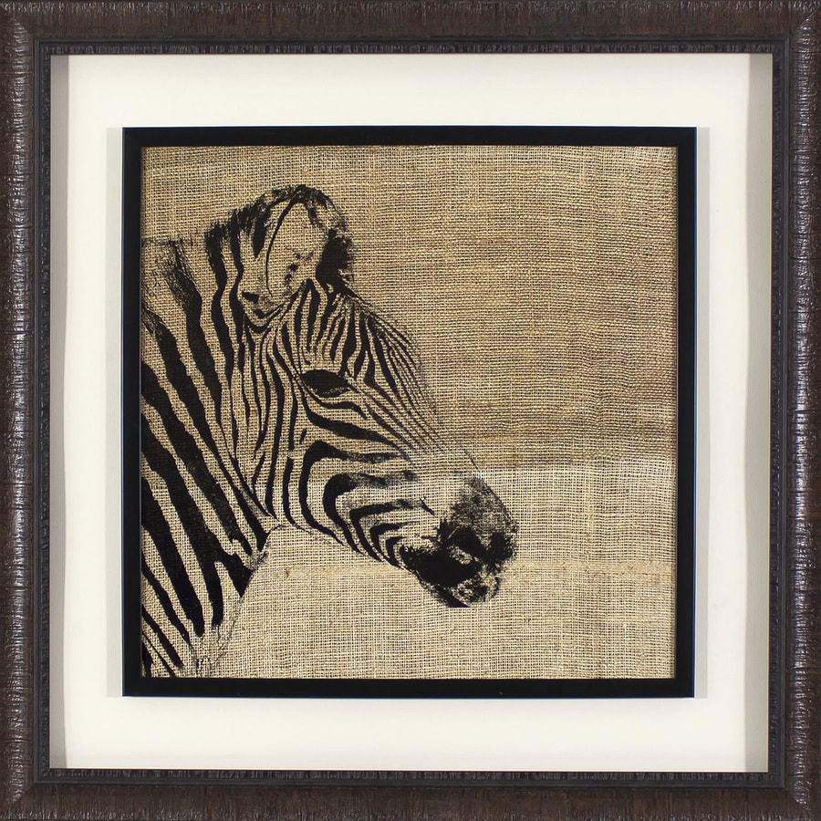 1-Piece 27.25-in W x 27.25-in H Framed Plastic Animals Print Wall Art