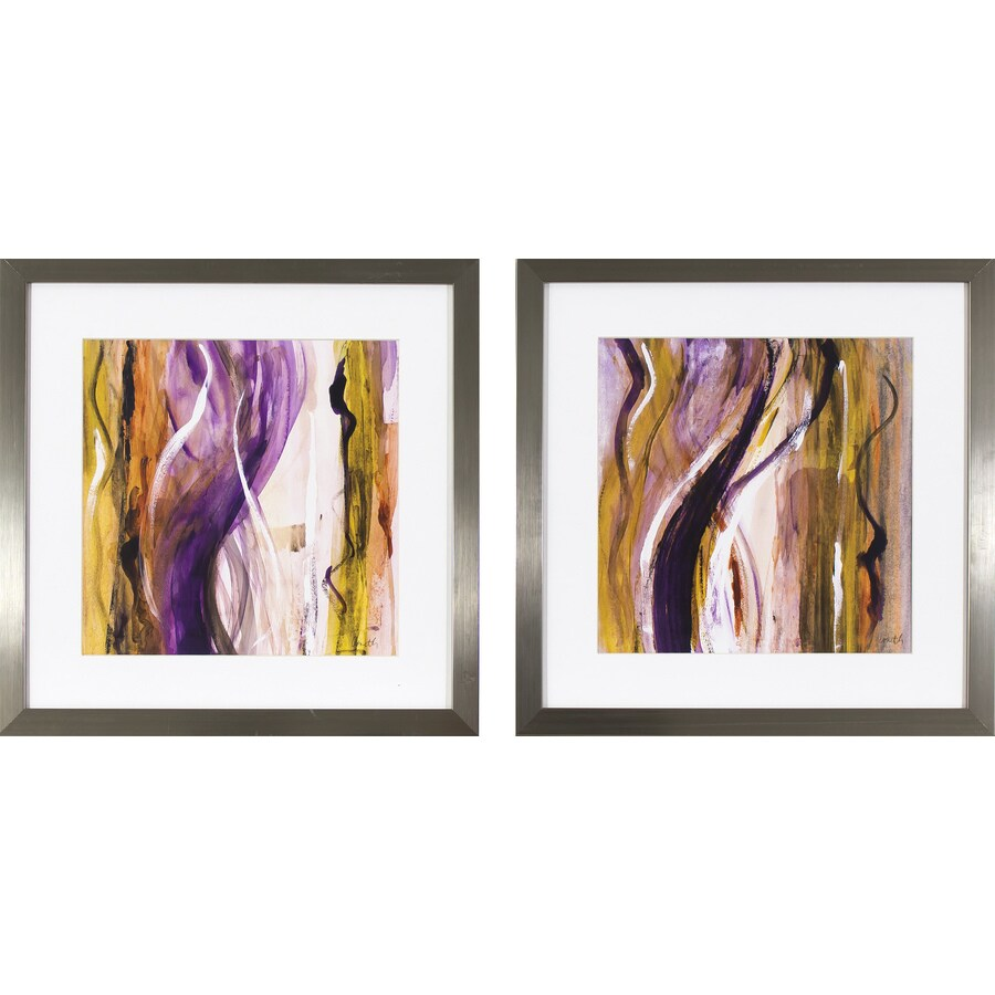 2-Piece 17.5-in W x 17.5-in H Framed Abstract Print Wall Art