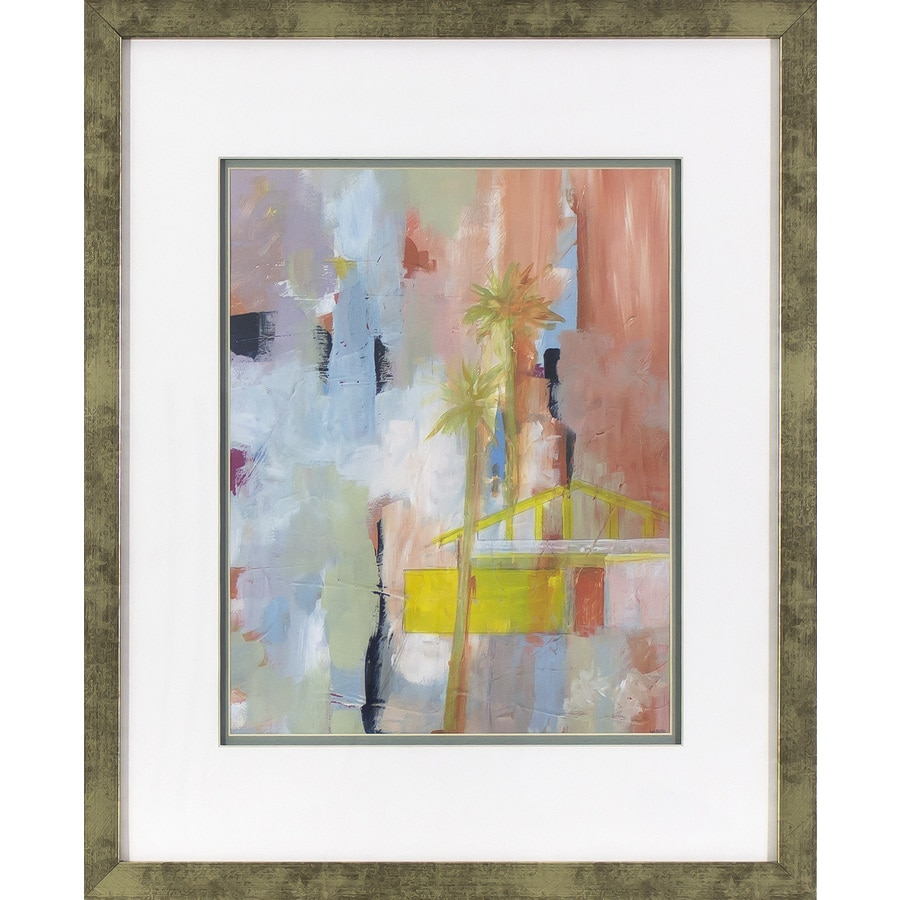 17.5-in W x 21.5-in H Framed Abstract Print Wall Art