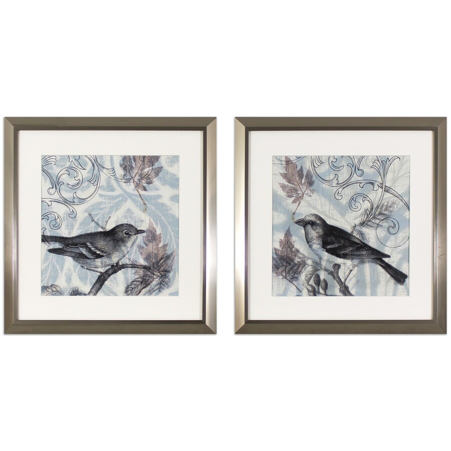2-Piece 17.75-in W x 17.75-in H Framed Animals Print Wall Art