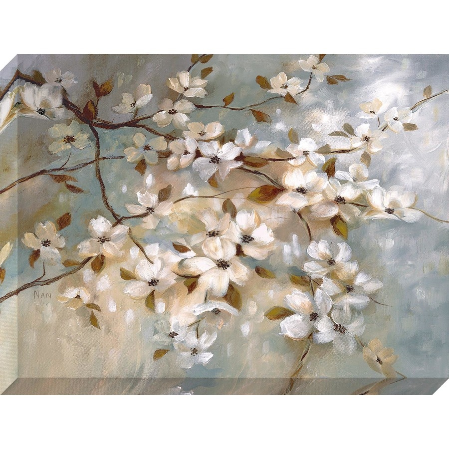 40-in W x 30-in H Frameless Canvas Floral Print Wall Art
