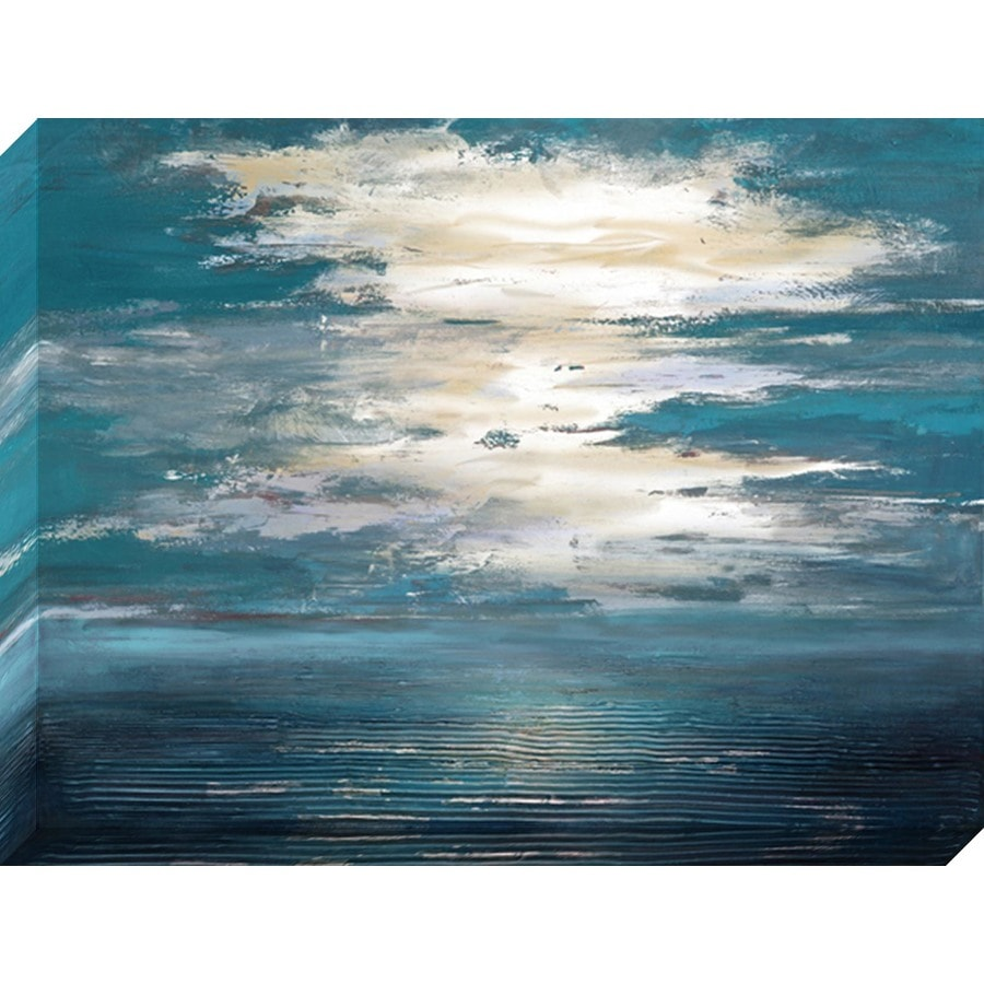 40-in W x 30-in H Frameless Canvas Abstract Print Wall Art