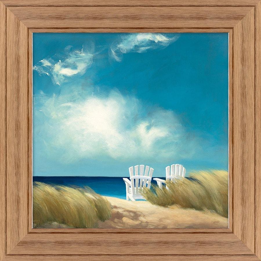 34-in W x 34-in H Framed Plastic Coastal Print Wall Art