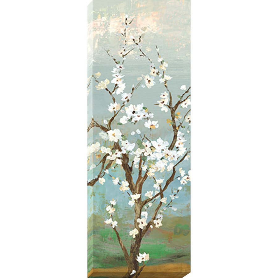 14-in W x 37-in H Frameless Canvas Floral Print Wall Art