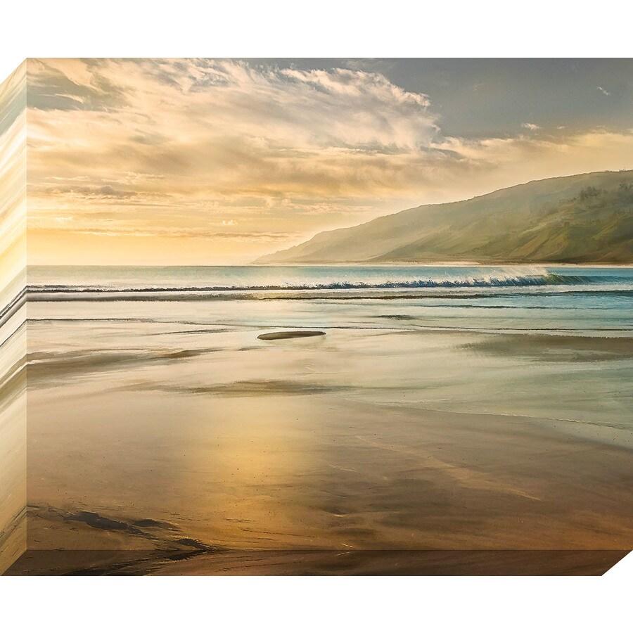 37-in W x 30-in H Frameless Canvas Coastal Print Wall Art