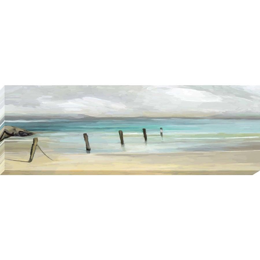 36-in W x 12-in H Frameless Canvas Coastal Print Wall Art