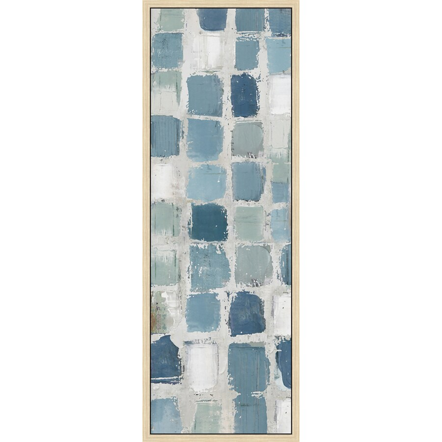 Shop 12 in w x 36 in h framed abstract canvas print at for Kitchen cabinets lowes with wall print art