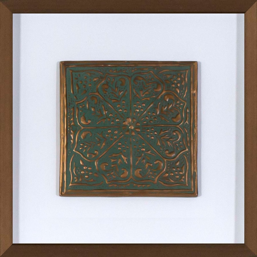 30-in W x 30-in H Framed Plastic Abstract Print Wall Art