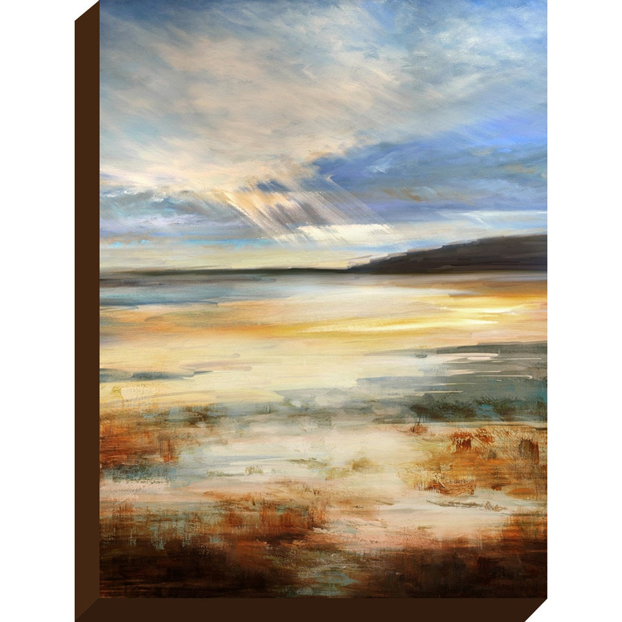 30-in W x 40-in H Frameless Canvas Coastal Print Wall Art