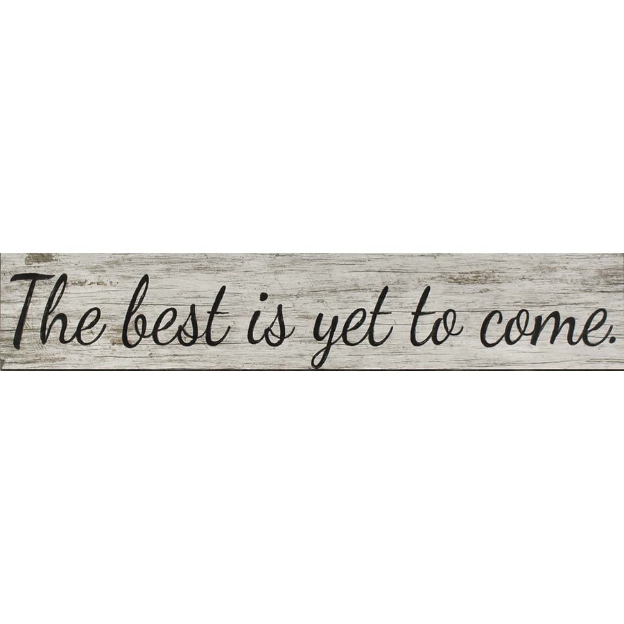 37-in W x 7-in H Frameless MDF Inspirational Print Wall Art
