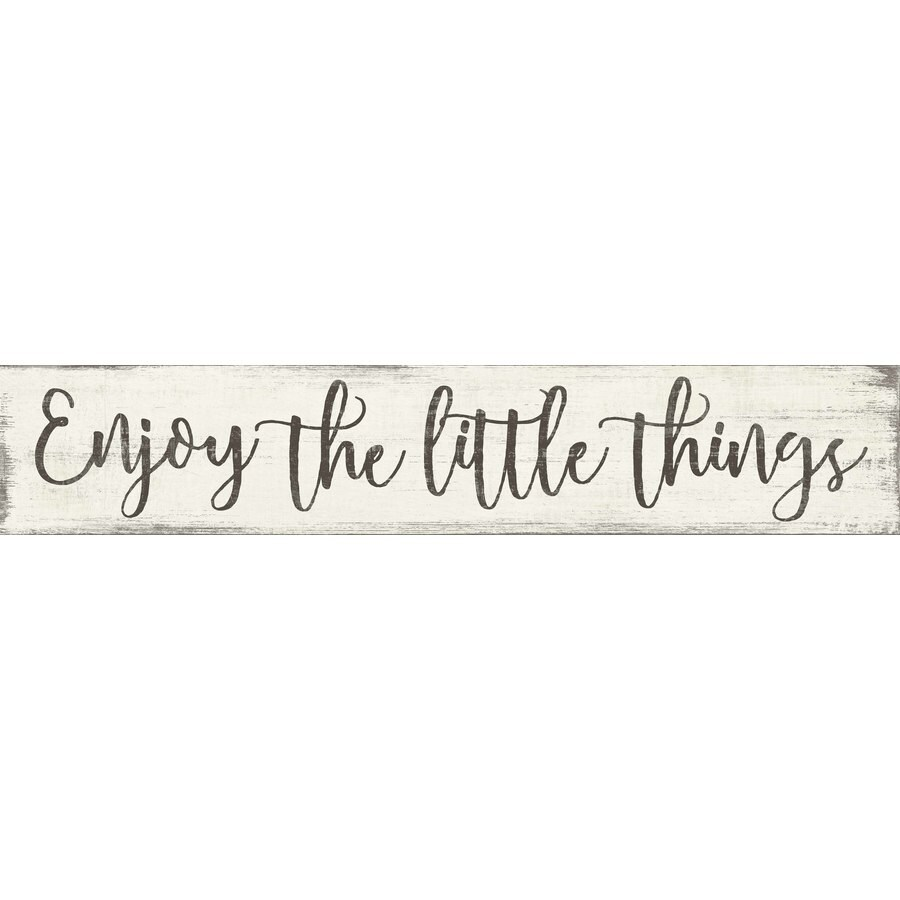 Enjoy The Little Things Wood Sign For Kitchen