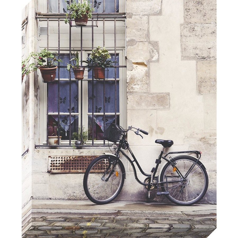 30-in W x 37-in H Frameless Canvas Cityscape Print Wall Art