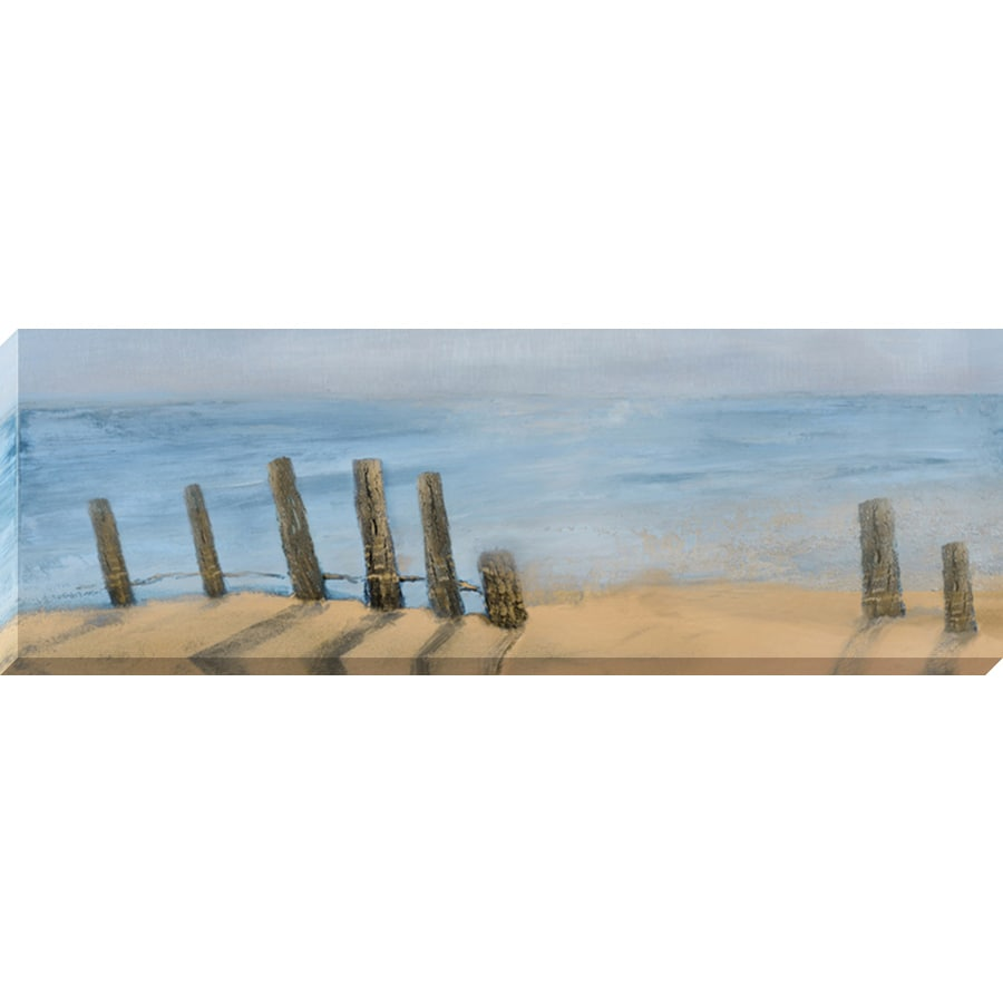 36-in W x 12-in H Frameless Canvas Coastal Print Wall Art