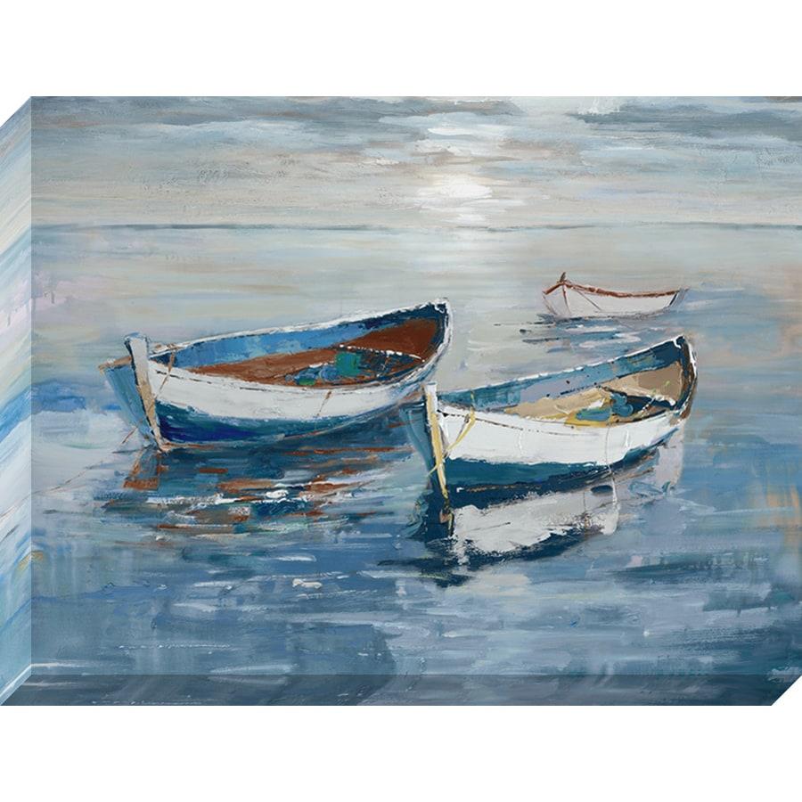 30-in W x 40-in H Frameless Canvas Coastal Print Wall Art