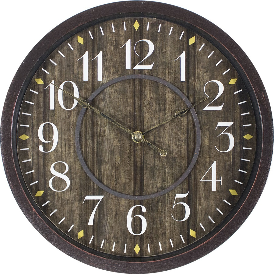 Analog Round Indoor Wall Standard Clock At Lowes Com