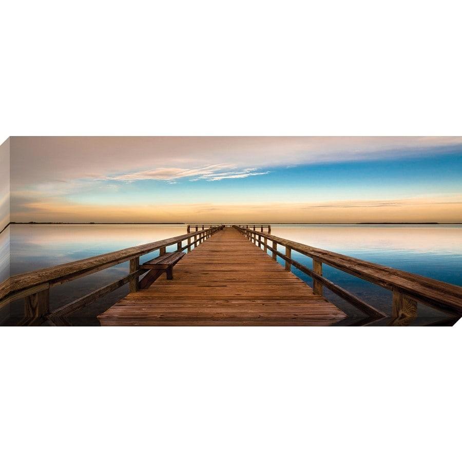 20-in W x 8-in H Frameless Canvas Coastal Print Wall Art