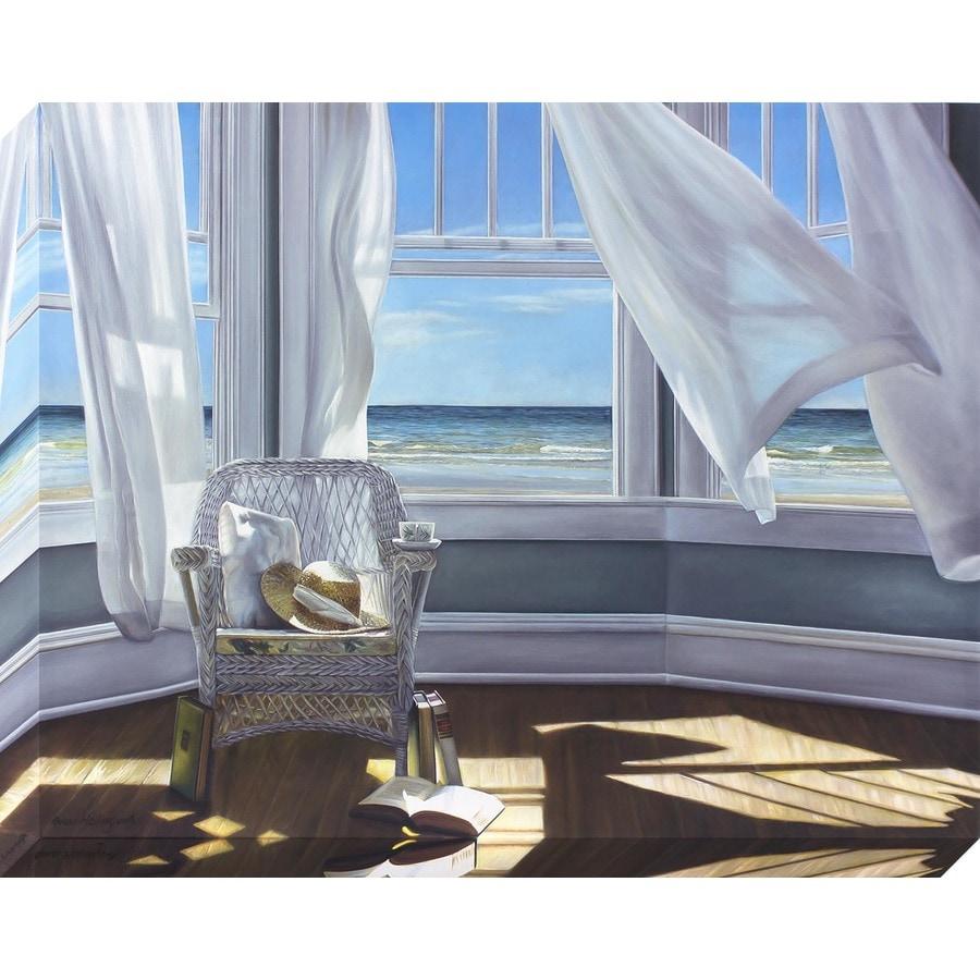 38-in W x 30-in H Frameless Canvas Coastal Print Wall Art