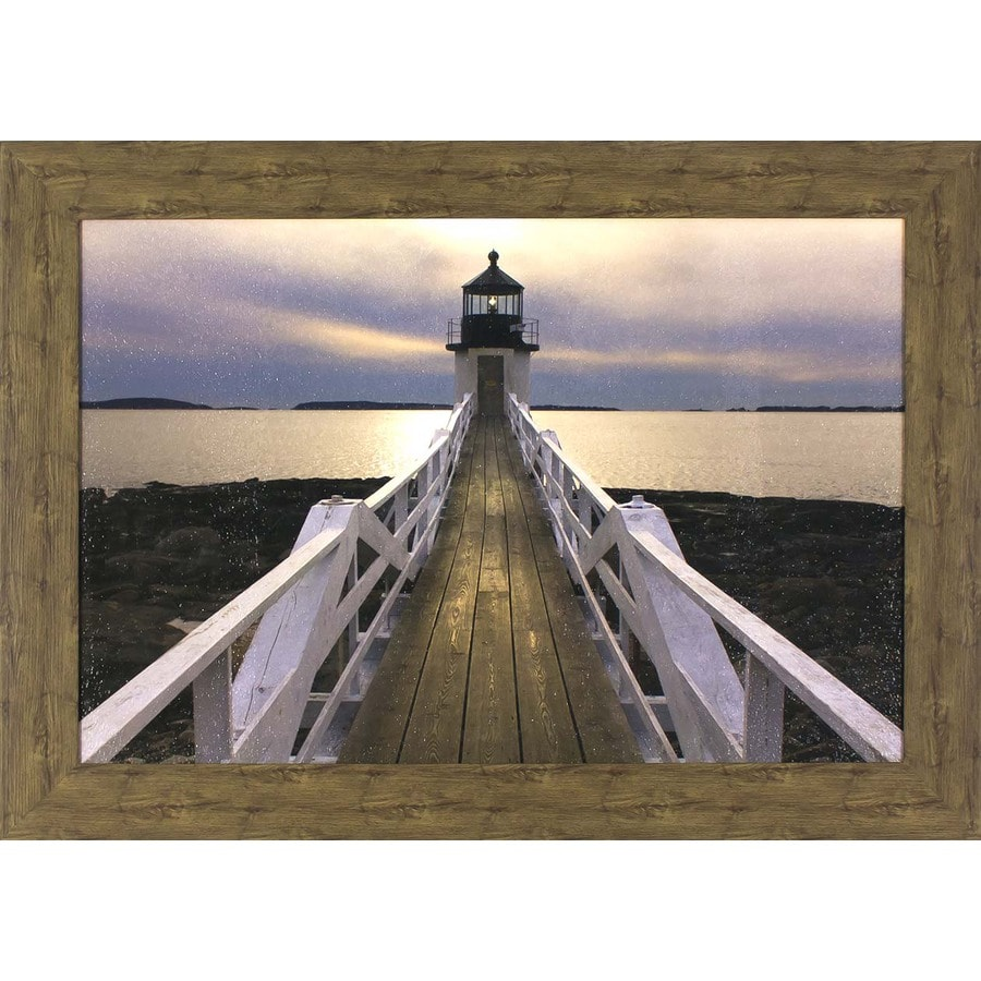 43.5-in W x 31.5-in H Framed Coastal Print Wall Art