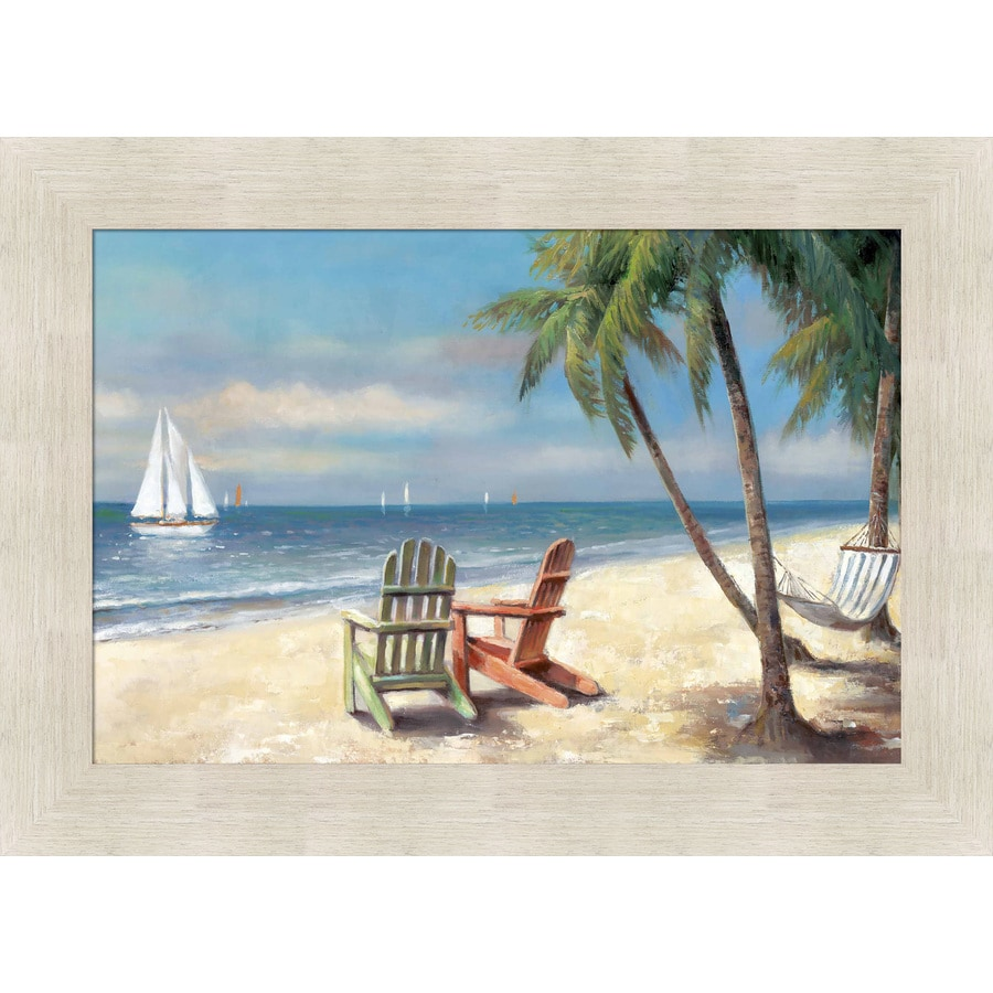 435 in w x 315 in h framed coastal print wall art