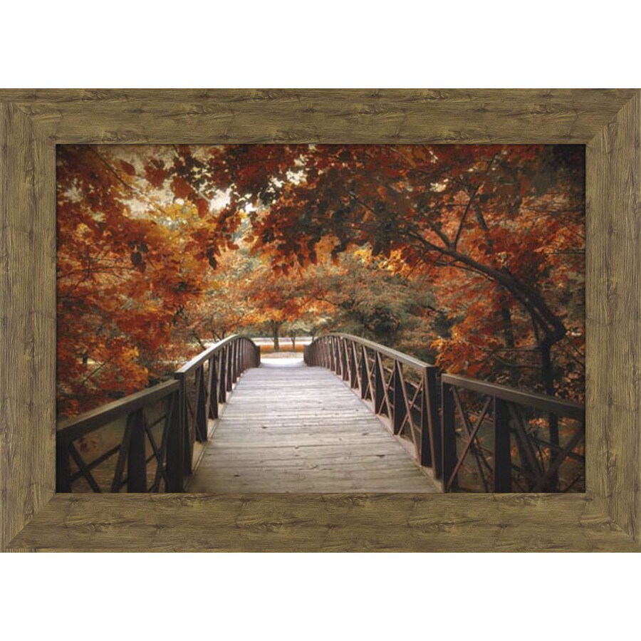 43.5-in W x 31.5-in H Framed Plastic Landscapes Print Wall Art