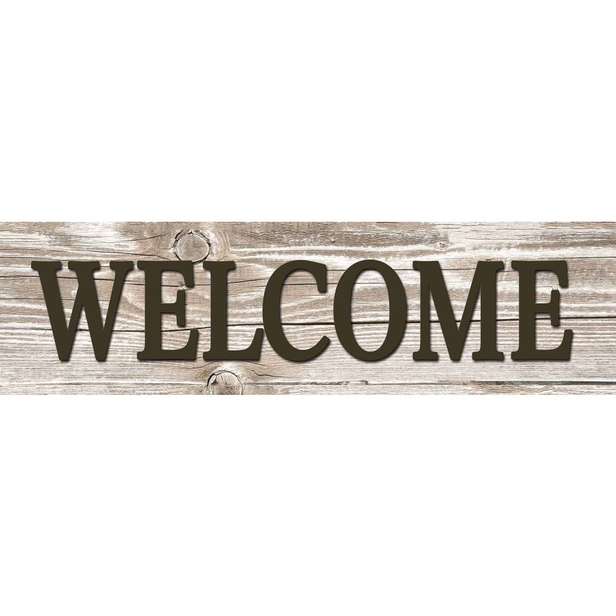 31-in W x 8-in H Frameless MDF Inspirational Welcome Plaque Wall Art