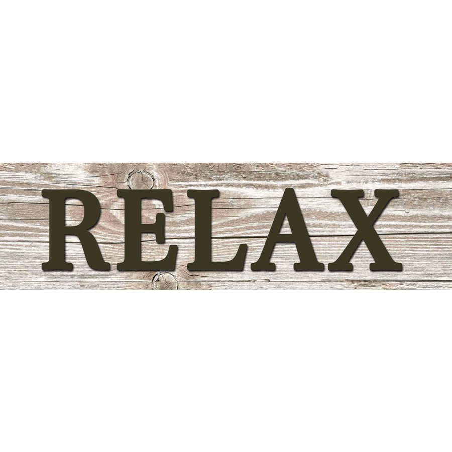 31-in W x 8-in H Frameless MDF Inspirational Relax Plaque Wall Art