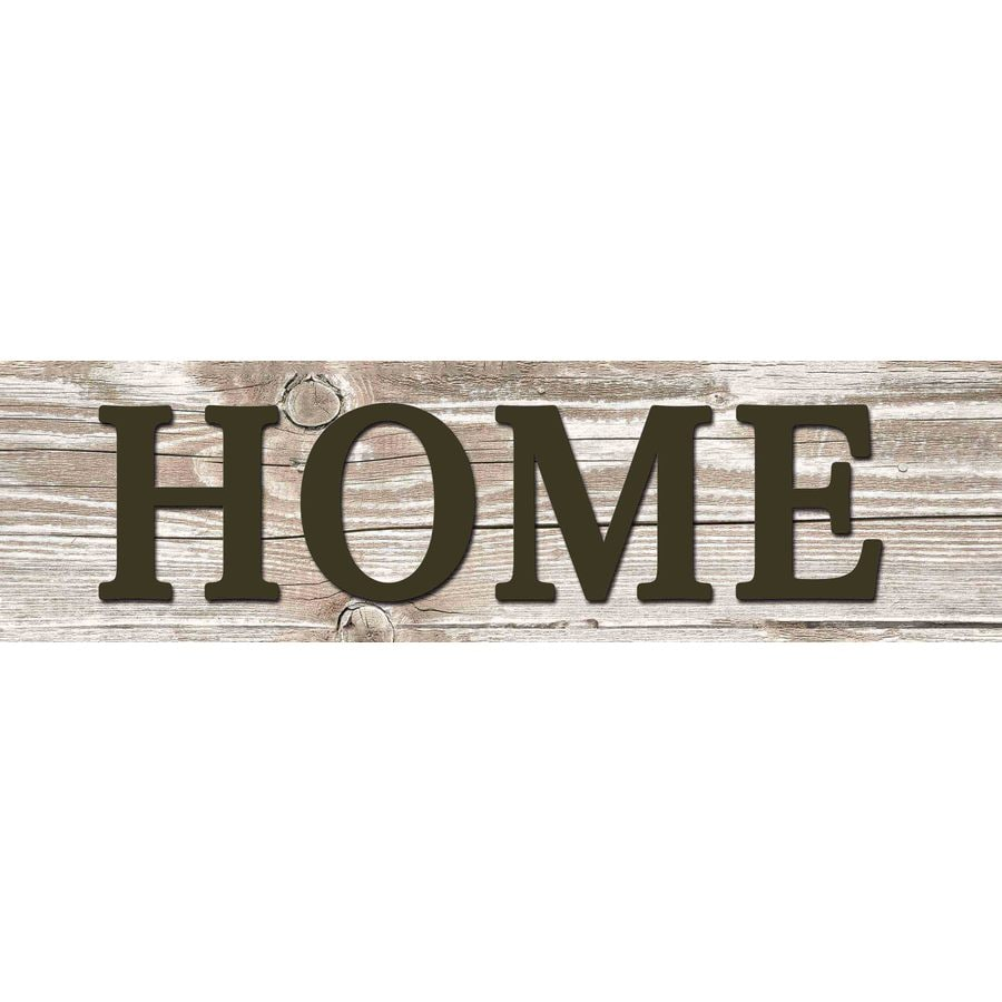 31-in W x 8-in H Frameless MDF Inspirational Home Plaque Wall Art