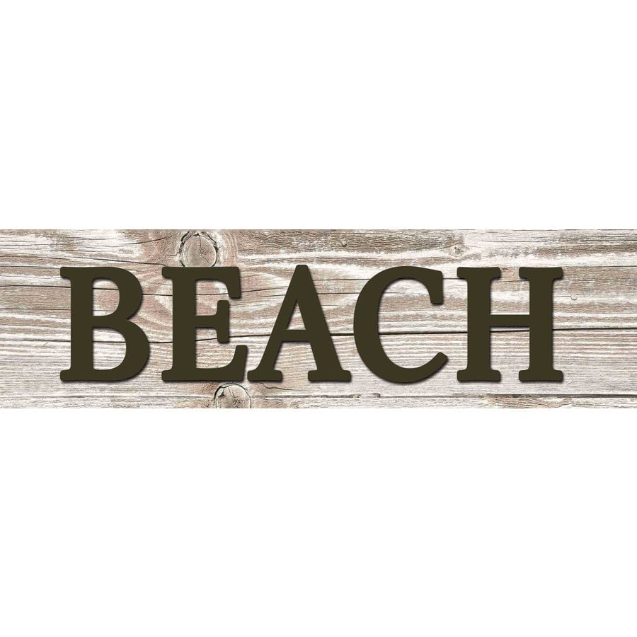 31-in W x 8-in H Frameless MDF Inspirational Beach Plaque Wall Art