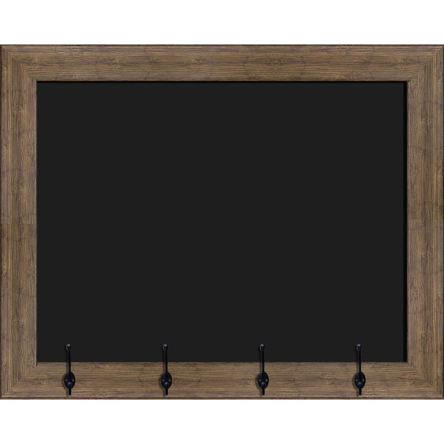 Decorative Brown Frame Chalkboard With Hooks