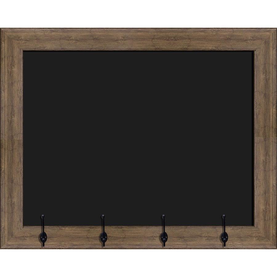 30-in W x 24-in H Light Brown Framed Chalkboard Sign Wall Art