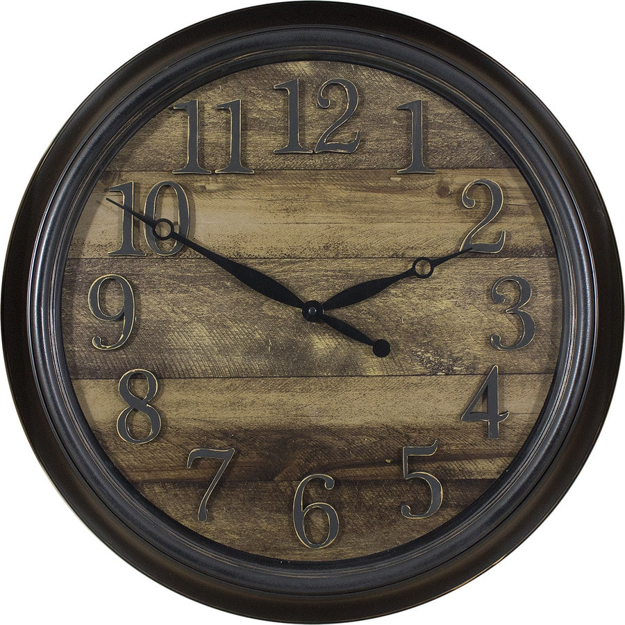 Shop clocks at lowes analog round indoor wall clock amipublicfo Image collections