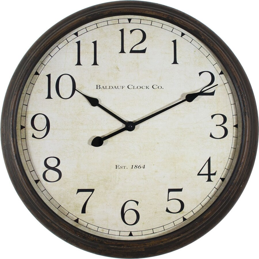 30-in Analog Antique Oil-Rubbed Bronze Indoor Wall Clock