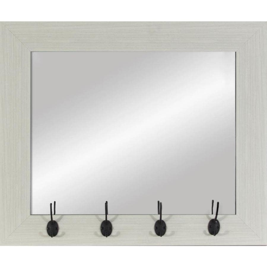 White Wood Polished Wall Mirror
