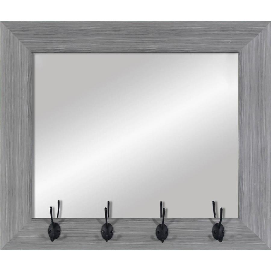 Gray Wood Polished Wall Mirror