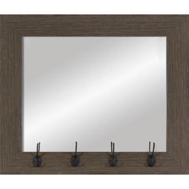 Medium Wood Polished Wall Mirror