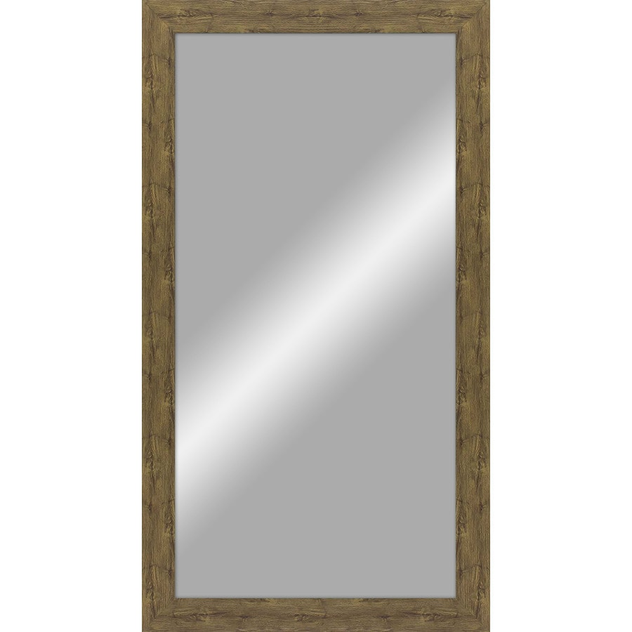 Shop rustic barn wood polished wall mirror at for Wood framed mirrors