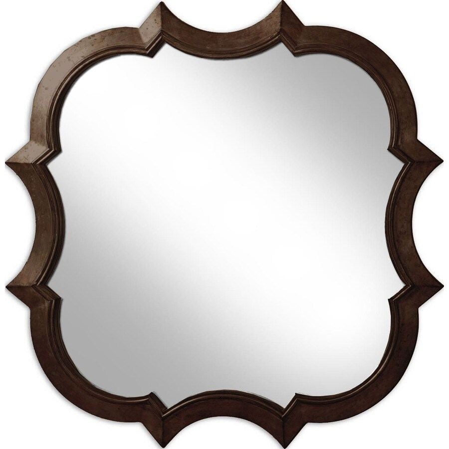 Oil Rubbed Bronze Round Framed Wall Mirror