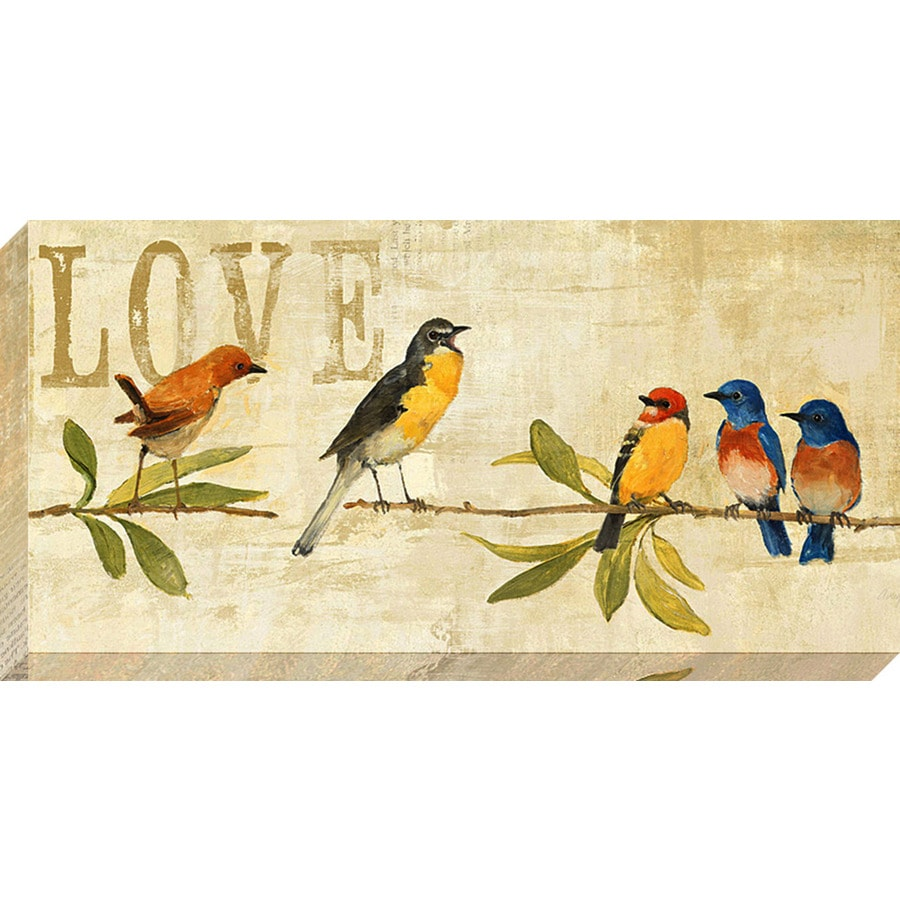 Shop 24-in W x 12-in H Canvas Animals Wall Art at Lowes.com
